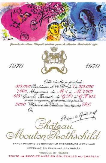 Etichette D Artista Chateau Mouton Rothschild With English